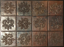 Copper Tile (TL978-12-4x4) Abundance Design