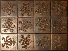 Copper Tile (TL9781-12-4x4) Set of 12
