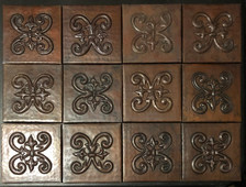 Copper Tile (TL977-12-4x4) Set of 12