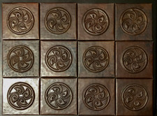 Copper Tile (TL857-12-4x4) Set of 12