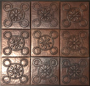 Copper Tile (TL997-9-4x4) Set of 9