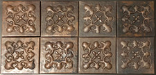 Copper Tile (TL9970-8-4x4) Set of 8
