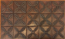 Copper Tile (TL413-15-4x4) Arts and Crafts Knot Design