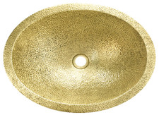 Brass Sink (BO19CN-PICO-WBR) Bath Brass Wide Oval Sink