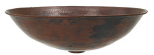 Vessel Sink (OV17) Copper Oval Sink Bowl