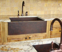 Flat Front Farmhouse Sinks Installed