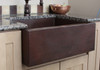 HAMMERED COPPER FARMHOUSE SINK - CUSTOMER INSTALLED.