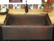 Flat Front Single Bowl Farmhouse Sinks