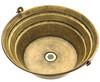 (BKT17-ORBRS) Round Brass Bucket Sink