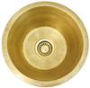 """RBV16-RB RUSTIC BRASS WITH 3.5"""" DRAIN OPENING"""