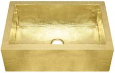 FHA33W1-Shiny Brass Farmhouse sink.