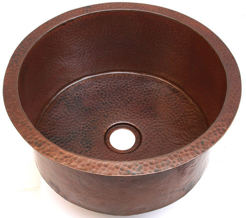 DBV16-hammered copper drum sink