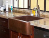 CUSTOMER PHOTO - HAMMERED COPPER FARMHOUSE APRON FRONT SINK