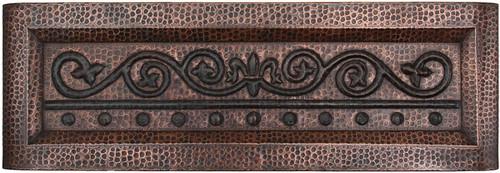Fleur de lis Design farmhouse copper kitchen sink