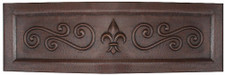 Fleur De Lis Swirl Front copper kitchen sink