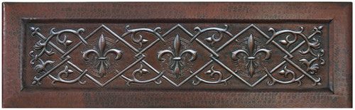 FDLTL-Fleur De Lis Trellis designer front copper farm sink.