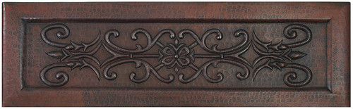 FLL-Floral Scroll Designer copper Apron Farmhouse Kitchen Sink.