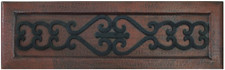Iron scroll front copper kitchen sink