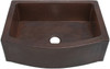 "36"" Dark Copper Kitchen Sink Rounded Front with Flat Ends"
