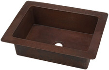 Small copper kitchen sink, great for tiny spaces