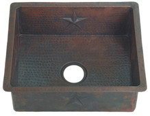 Small copper kitchen sink, great for tiny spaces with star designs