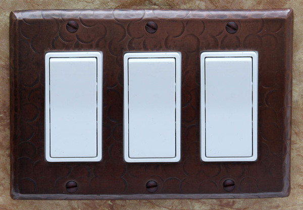 Switch Plate Cover Receptacle Cover Triple Decora Copper Sinks