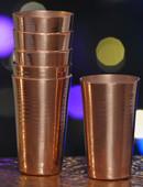 Hammered Mules (MINI134) Smooth Copper Mini Jigger Shot Glasses-Set of 6