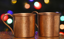 Hammered Mules (14-ENCH-2PK) Copper Mug Set of 2-Moscow Mules