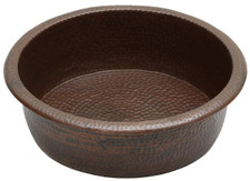 Pedicure (PED19) hammered copper spa bowl pedicure foot soak