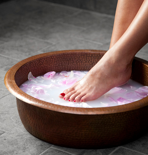 Copper Spa Pedicure Bowl foot soak