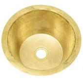 RBV14-MB Round hammered matte brass bar sink