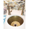 CUSTOMER PHOTO - RBV14-RB RUSTIC WEATHERED BRASS BAR SINK