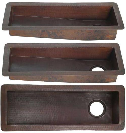 Trough copper sink