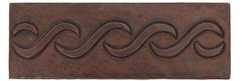Lazy S hammered copper tile liner