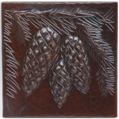 pinecone copper tile