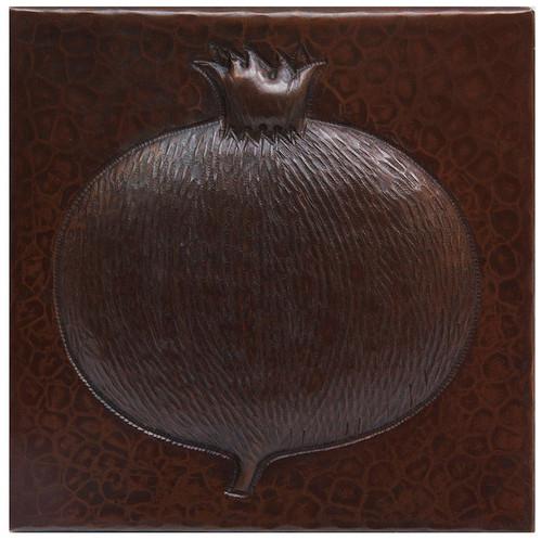 Pomagranite hammered copper tile