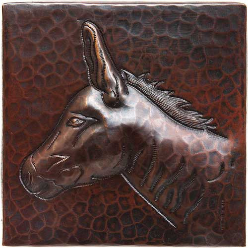 Donkey design copper tile