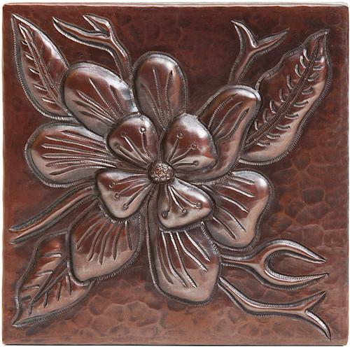 Wildflower design copper tile