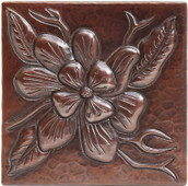 Wildflower design copper tile