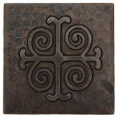 Medallion design copper tile