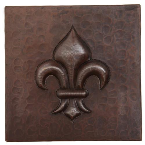 Fleur De Lis design copper tile