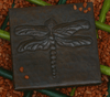 Dragonfly tile, hammered copper