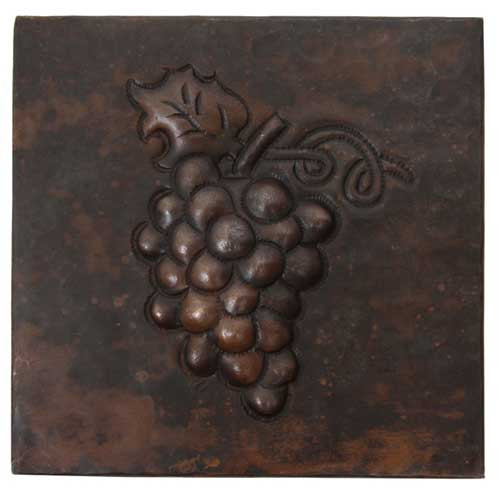 grape cluster design copper tile