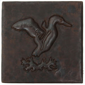 Flying duck design copper tile