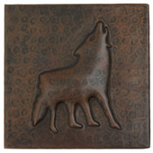 Coyote design copper tile