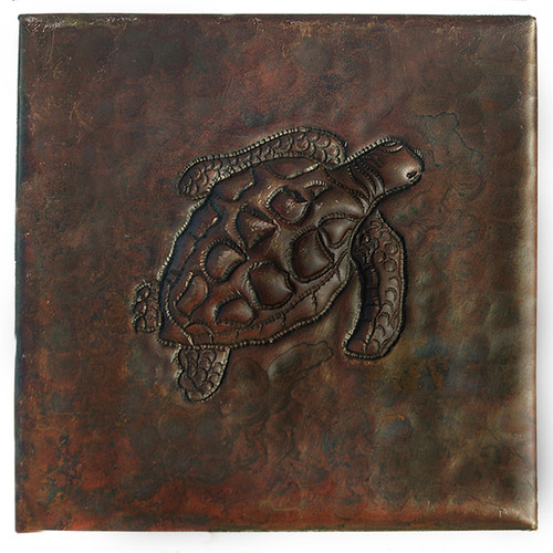Sea Turtle designer copper tile