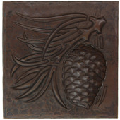 Pinecone design copper tile