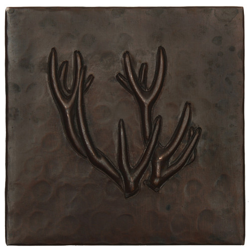 Deer Antlers design copper tile
