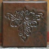 Arts and Crafts design copper tile