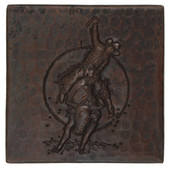Rodeo design copper tile